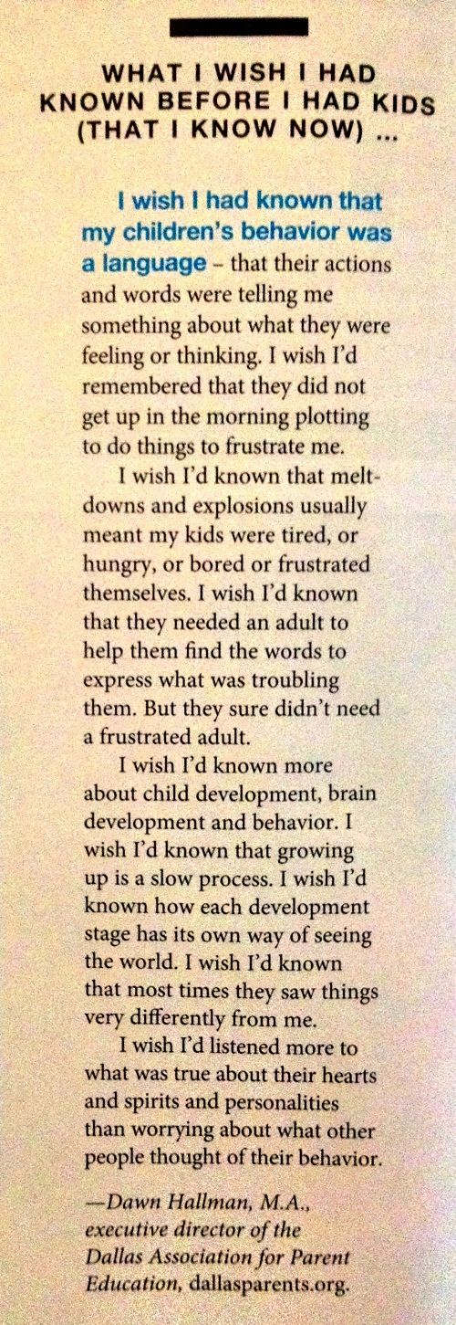 What I Wish I Would of Known Before I Had Kids